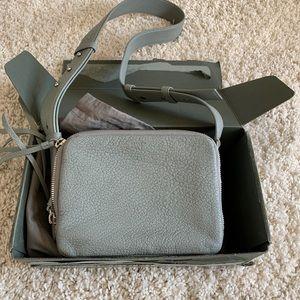 Allsaints vincent leather camera crossbody bag